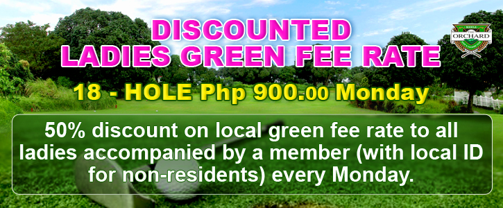 Ladies Green Fee Rate